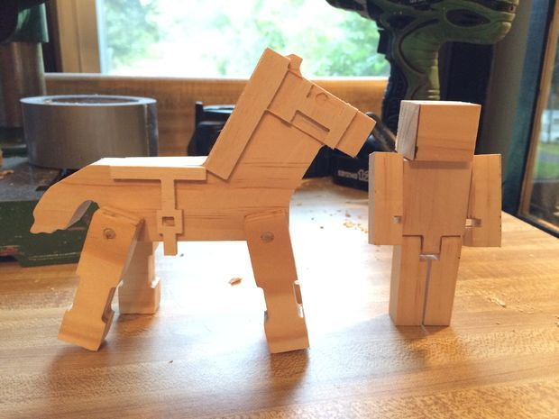 Picture of How to Make Wooden MineCraft Toys