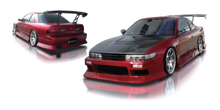 Origin Labo. NISSAN SILVIA S13 AGGRESSIVE ( JDM SILVIA FRONT WITH COUPE TRUNK ONLY) - SIDE SKIRTS