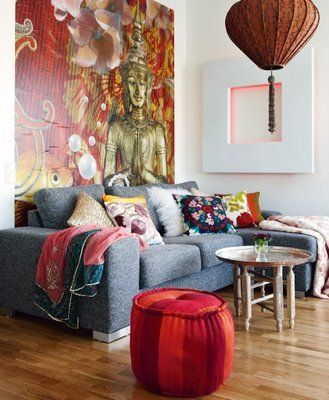"""I have a """"hot air balloon"""" similar to the one hanging in this picture.  Idea on where to place..."""