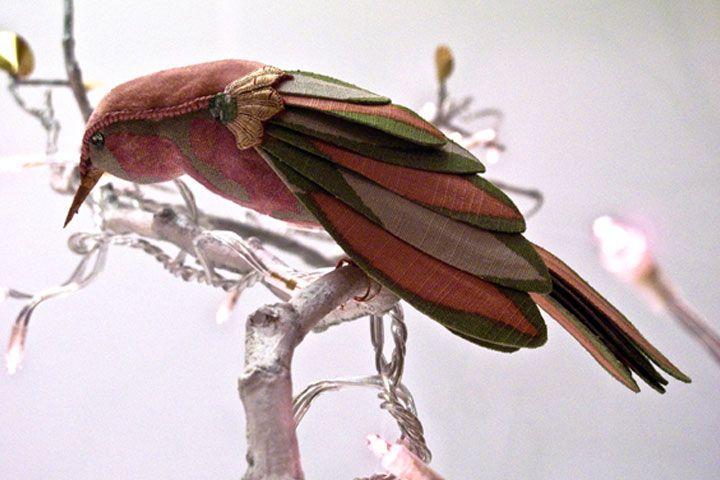 Птицы из ткани от Жозефины Гааги