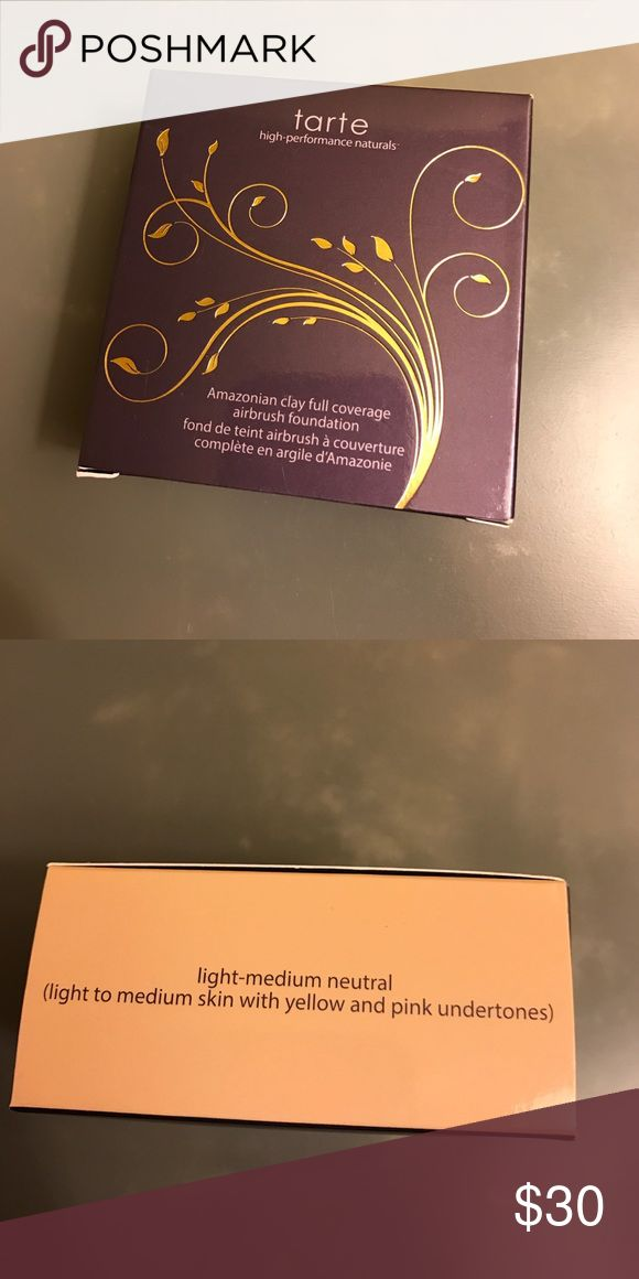 New tarte airbrush foundation New in box Tarte full coverage airbrush foundation. Color is light/medium neutral. Purchased a few months ago just found another foundation that I prefer tarte Makeup Foundation