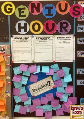 Genius Hour! Give kids a chance to study their passions for one hour each week!