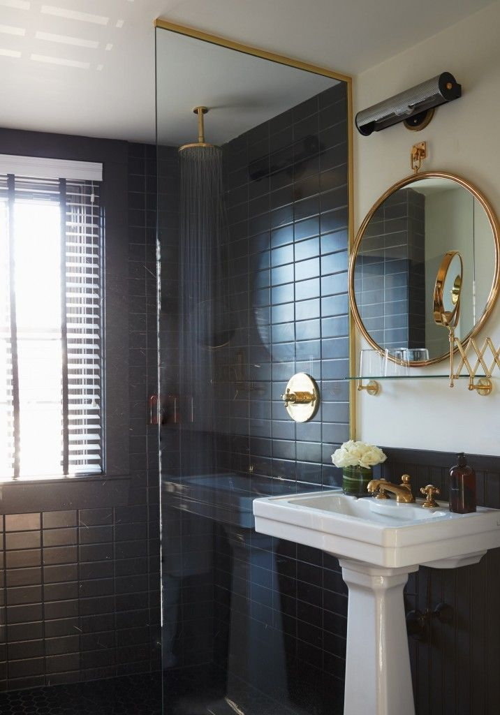 8 best Black Subway tile images on Pinterest | Black subway tiles ...