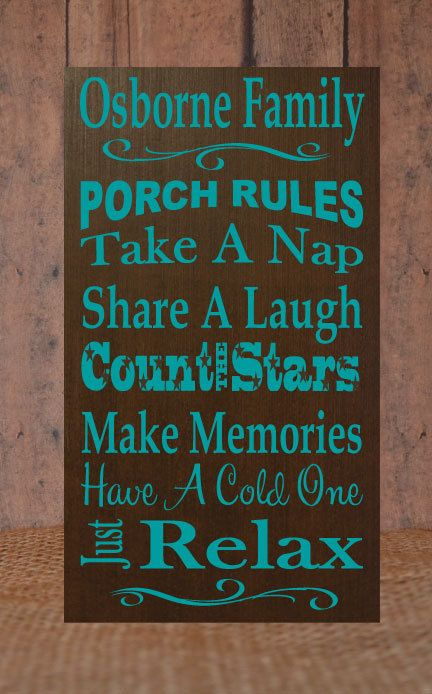 Personalized Count the Stars Porch Sign by ElsiDesign on Etsy