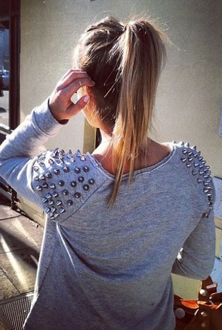 really want to make a studded sweater. studded instead of spikes i think though