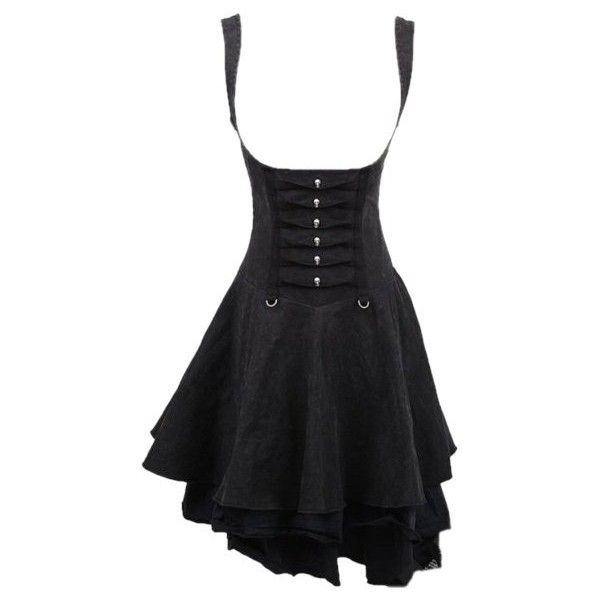 Rebella Gothic Underbust Corseted Dress by Punk Rave ($95) ❤ liked on Polyvore featuring dresses, goth corset, gothic lolita dress, vintage dresses, denim dress and gothic corset dress