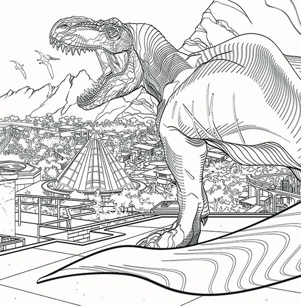 picture Jurassic World Coloring Pages Baby Blue pin di colouring
