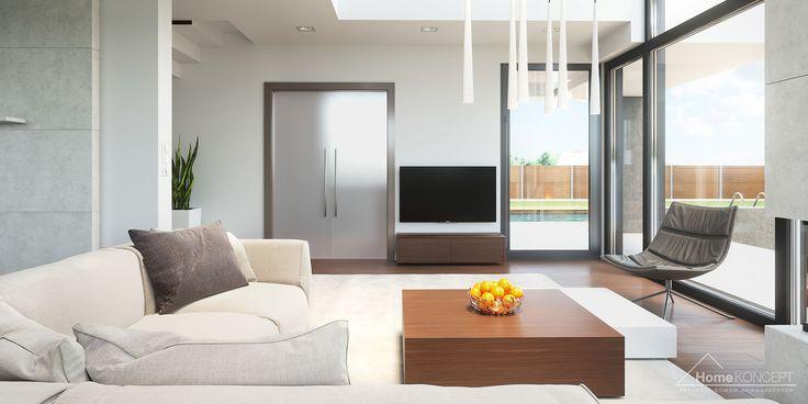 Projekt domu HomeKoncept 2 - aranżacja wnętrza www.homekoncept.pl #projektdomu
