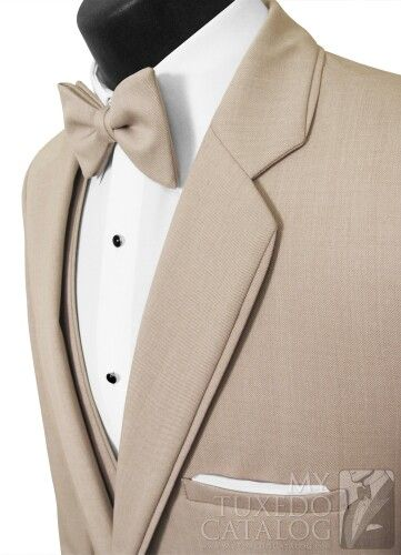 Tan tuxedo but hate the bow tie...replace with a tie