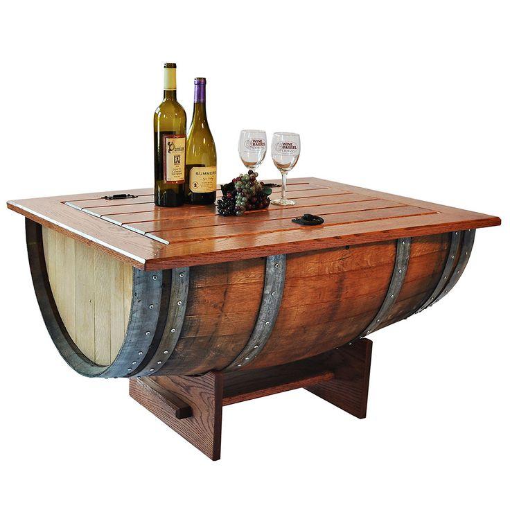 Best 25 Wine Barrel Coffee Table Ideas On Pinterest