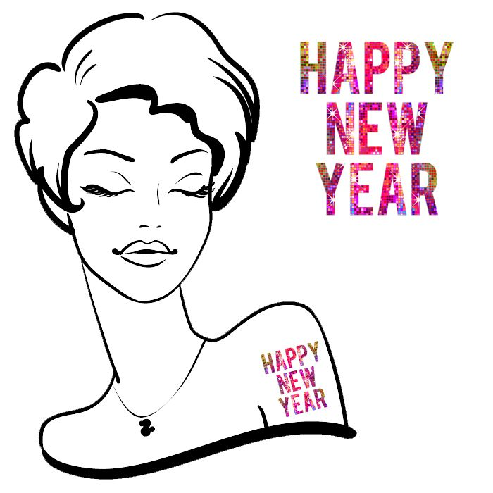 Happy New Year Disco Tattoos #62 (20 pack)