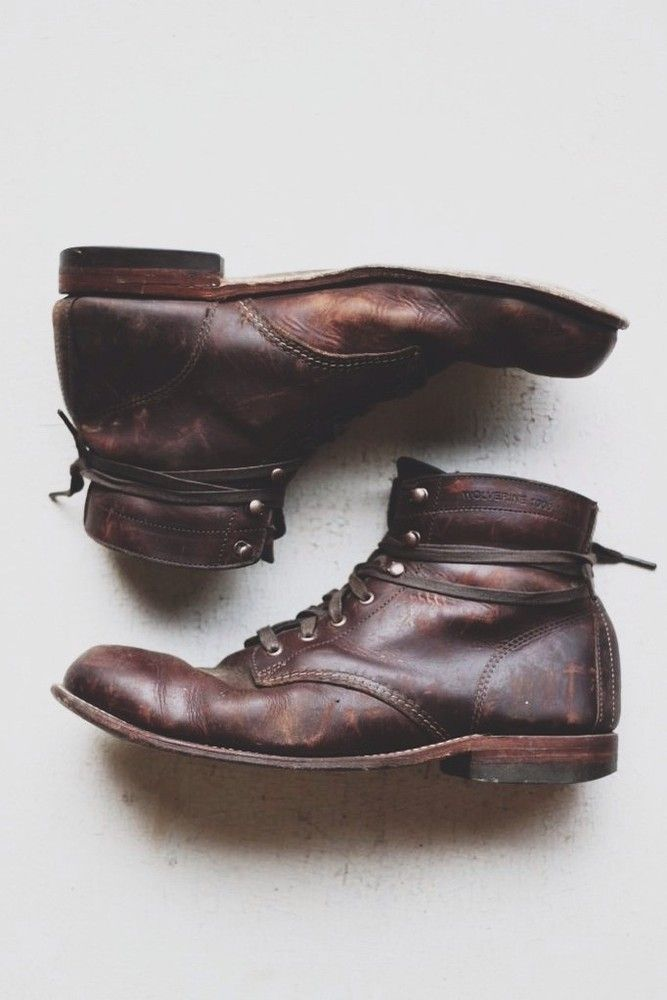 1924 — Wolverine 1000 Mile boots in Brown