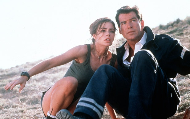In the 1999 film The World Is Not Enough, James Bond (Pierce Brosnan) gets an assist from Christmas Jones (Denise Richards), a nuclear physicst who happens to look just like a Bond girl. (Photo courtesy of PhotoFest)