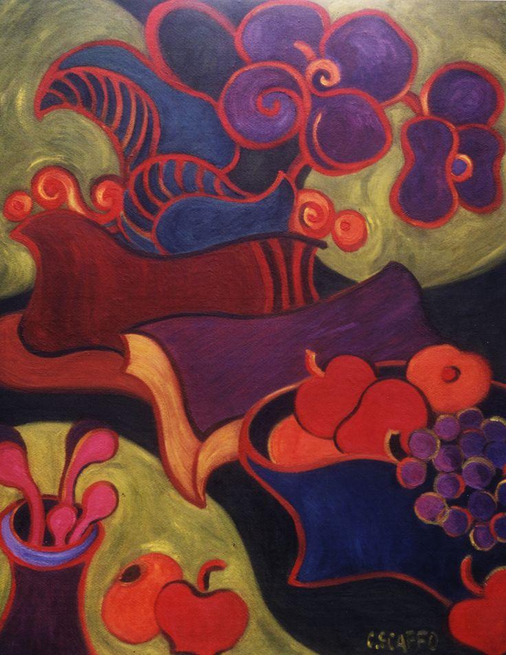 """""""Objetos Danzantes XI""""  - 1998 óleo sobre fibra 100 x 80 cm."""