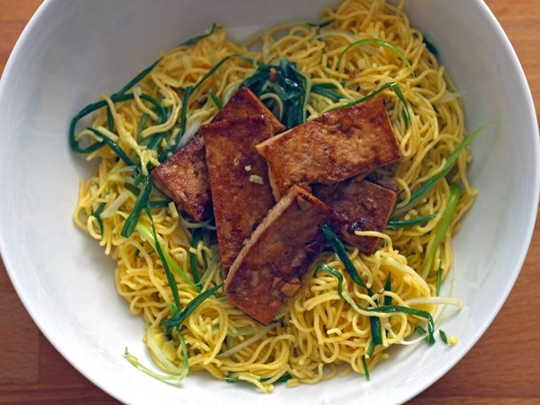 Momofuku's Ginger-Scallion Noodles With Tofu / serrus eats
