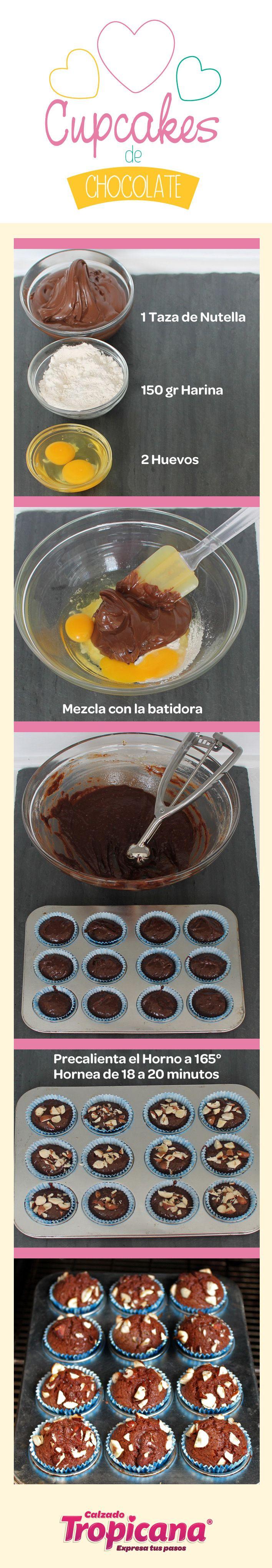 Prepara a tu familia unos deliciosos #Cupcakes de Nutella. ¡Fácil y rápido! #TropiCocina