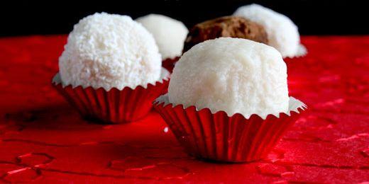 Coconut Truffles via @iquitsugar