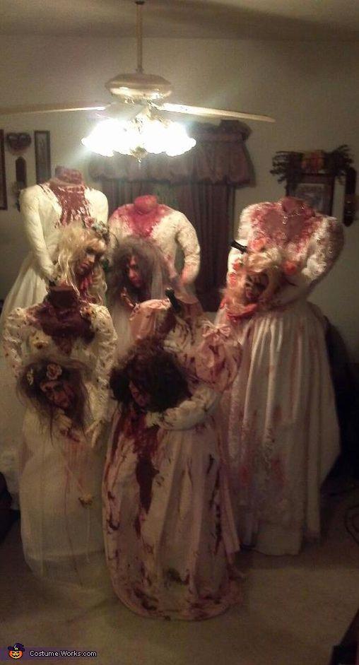 Novias sin cabeza - trajes hechos en casa para grupos