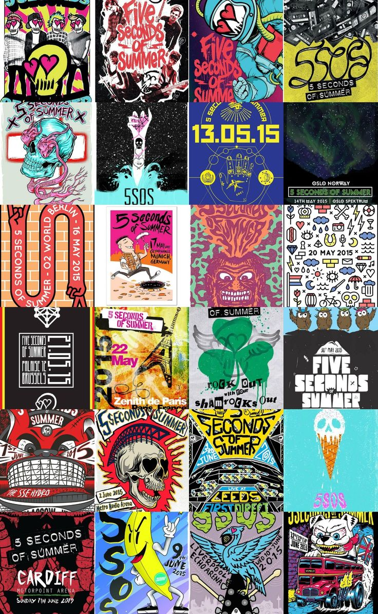 5sos poster design - Posters From The European Part Of The Rowyso Tour