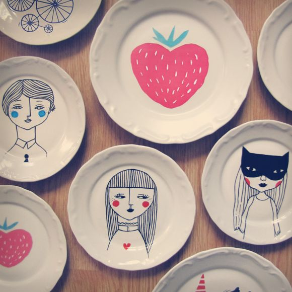 Hand draw plates by Mimology
