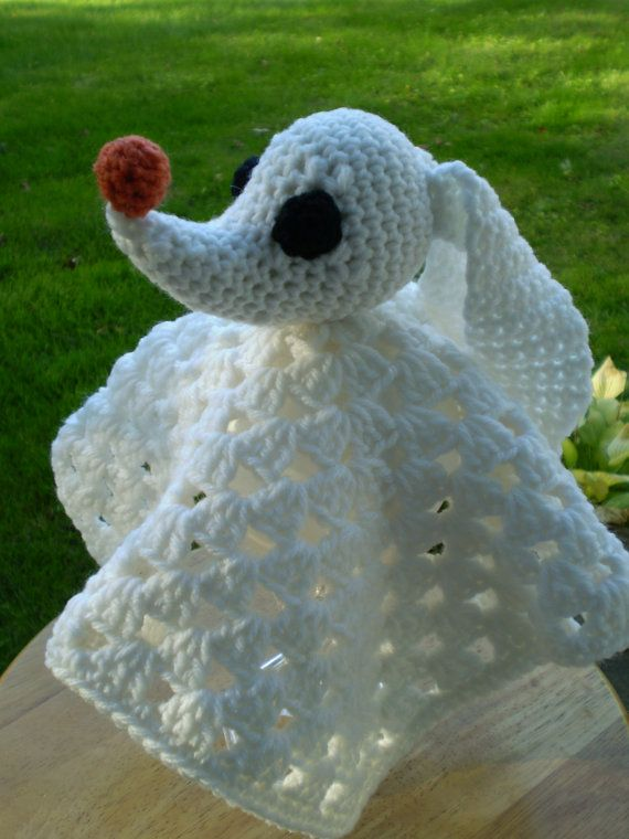 Knitting Pattern Nightmare Before Christmas : Crocheted Zero Lovey - Nightmare Before Christmas - Made to Order -- The Stri...