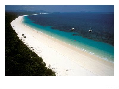 Whitehaven Beach, Whitsunday Islands Australia. Nearby great place to skydive.