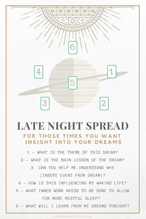 Tarot spread for dream analysis! #tarotcardsdiy