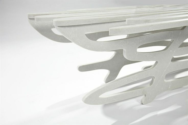 Sculptural Caesarstone Bench by Juergen Mayer