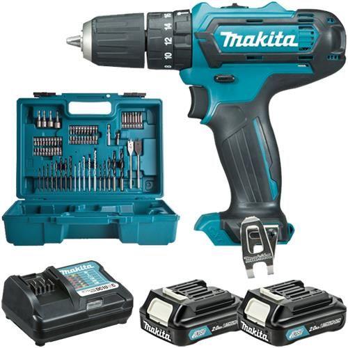 *CLICK TO ENLARGE* Makita HP331DWAX1 Cordless 10.8V Combi Drill Set