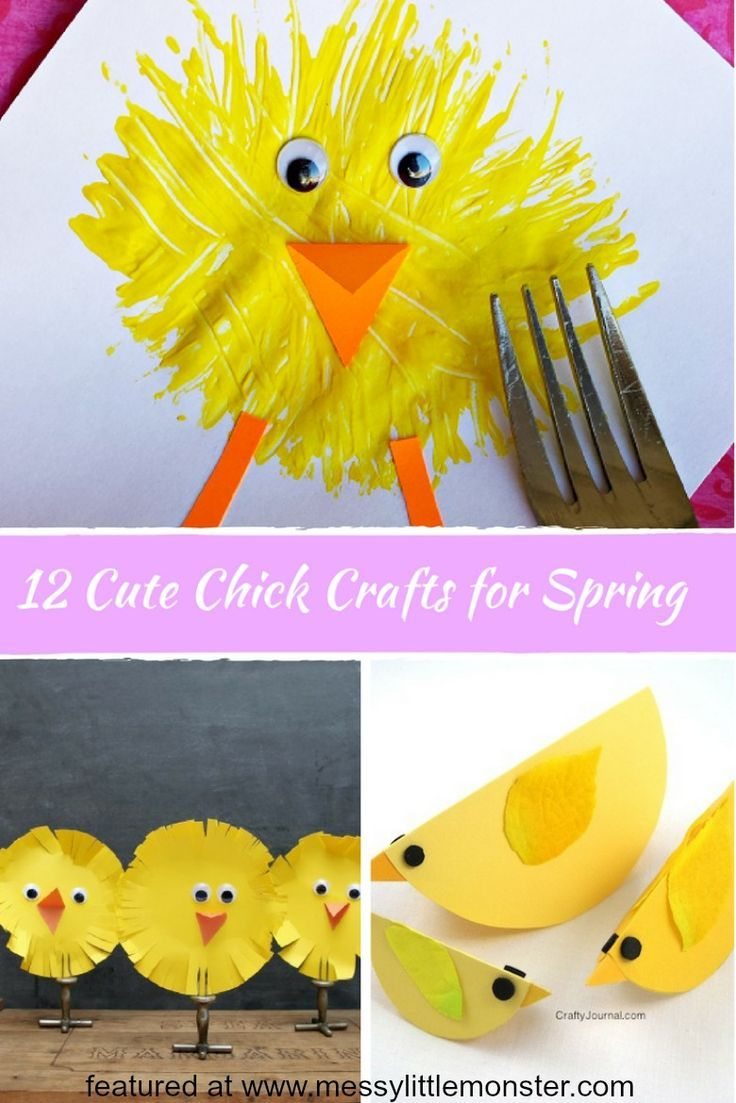 Cute Chick Crafts for Spring   Art Activities   Spring toddler