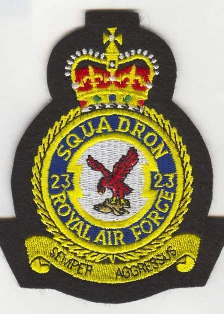 RAF-23Sqn Crest