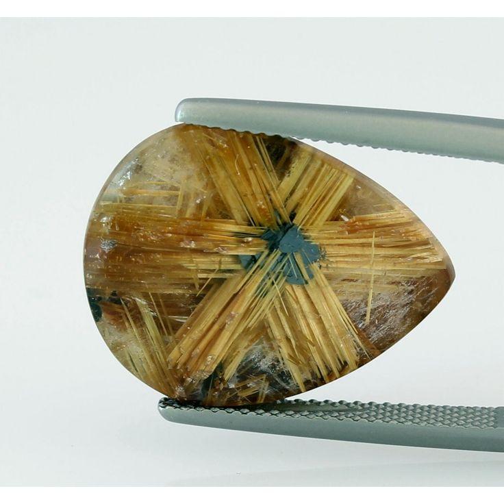 Rutilquarz Stern - goldener Rutil-Quarz aus Brasilien 21,41 Karat i...