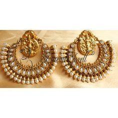ramleela earrings in gold - Google Search