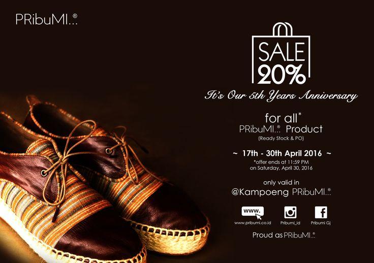"""""""PRibuMI...® Anniversary Sale"""" Please contact via: WA : 082213355211 LINE : @pribumi / pribumi_id PIN BB : 5ABCD17C Email : order@pribumi.co.id www.pribumi.co.id"""