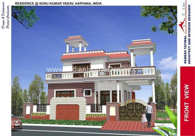 3d Exterior View Of North Indian Style House Kohima Architecture