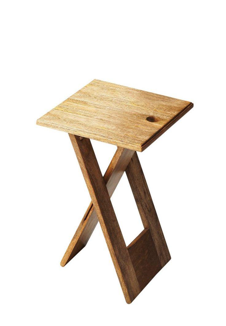 Hammond Transitional Square Folding Table Light Brown