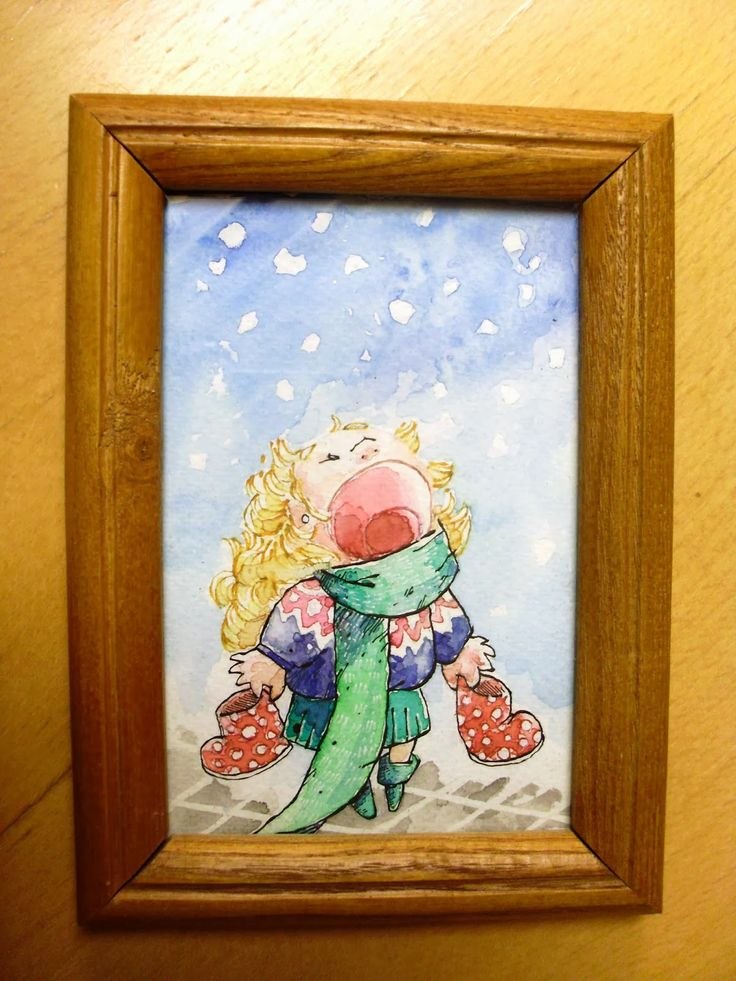 O cute little watercolour-painting I made of the main character of a children´s book I illustrated.