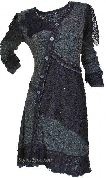 Pretty Angel Clothing Lady Renee Vintage Dress/Tunic In Black