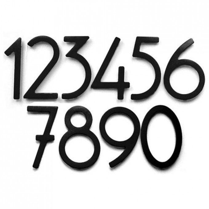 Satin Black Contemporary House Numbers - Address Plaques and House Numbers - Outdoor