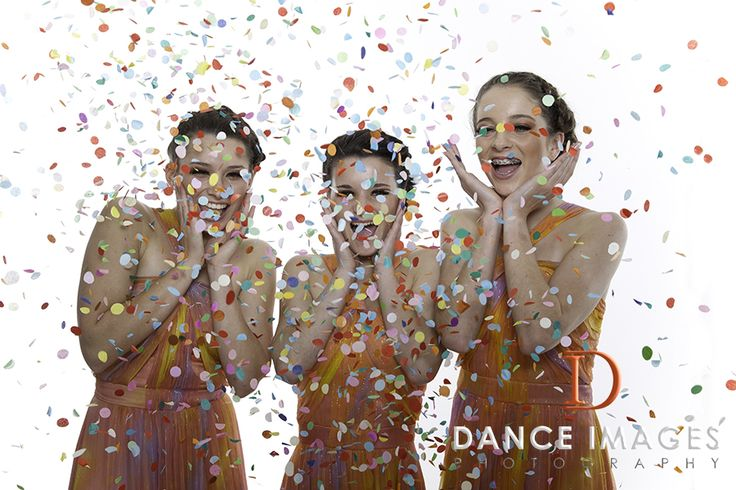 3 Friends and a Photoshoot of Confetti Fun www.danceimages.net.au