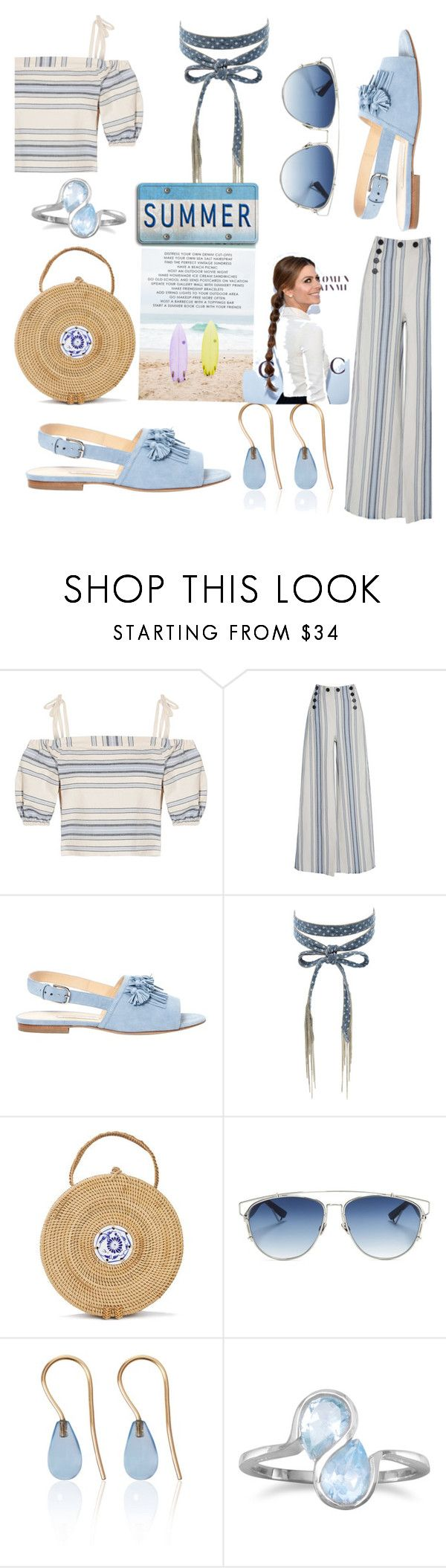 """Summer Chillin"" by mdfletch ❤ liked on Polyvore featuring Lemlem, Bionda Castana, Chan Luu, Christian Dior, Love Is, BillyTheTree and summerchillin"