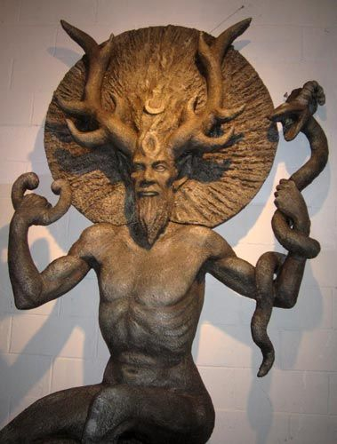 """""""The Horned One"""" - Cernunnos #Celtic, #Mythology: Forests, Cernunno, The Lord, Goddesses, Seasons, Horns God, Green Man, Flowers, Celtic Mythology"""
