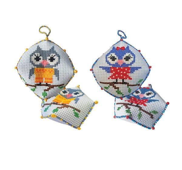 Набор для вышивания ZENGANA М-029 Бискорню Он и Она