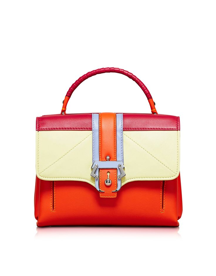 Paula Cademartori Petite Faye Orange Satchel Bag at FORZIERI