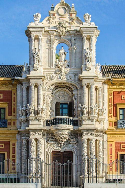 *SEVILLE,SPAIN ~ Palacio de San Telmo. Fachada barroca