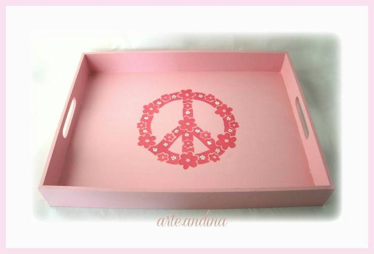 Wood Tray Peace design