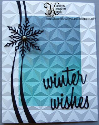 Warm Winter Wishes with Faux Textured Metal Look