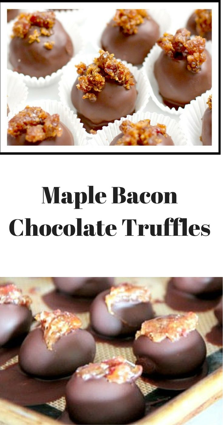 Maple Bacon Chocolate Truffles - These are just as good as they sound ...