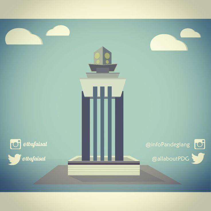 Tugu Pandeglang . monumen pandeglang. Vector , art , design , ilustration , flatvector , inkscape , @tbafaisal