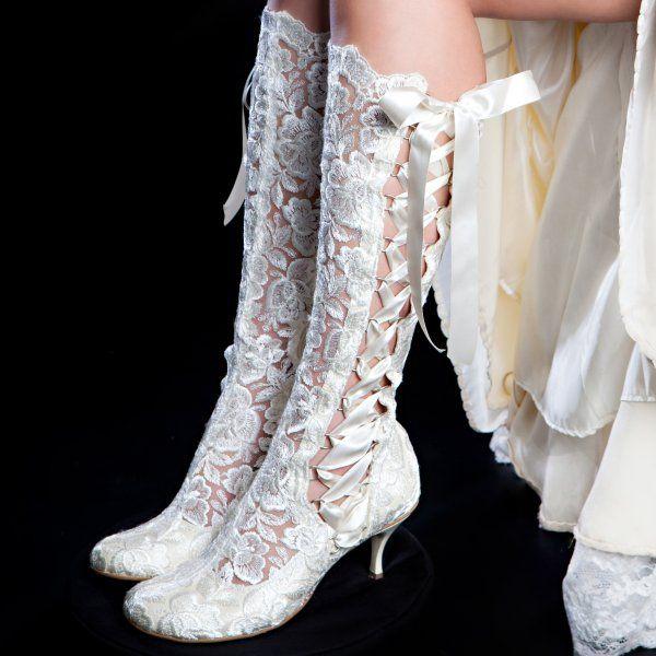 Csipke menyasszonyi csizma / Lace wedding boots